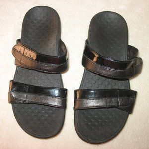 VIONIC SHORE SLIP-ON SANDALS SLIDES Black Sz 8